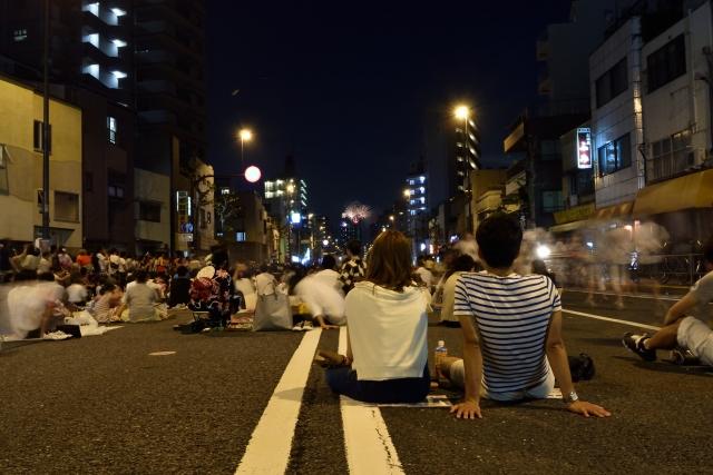 隅田川花火大会 水戸街道