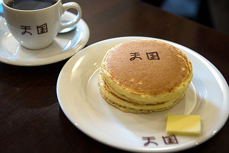 『珈琲 天国』のホットケーキ