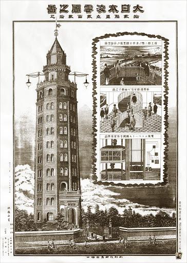 凌雲閣:日本初の電動式エレベーター