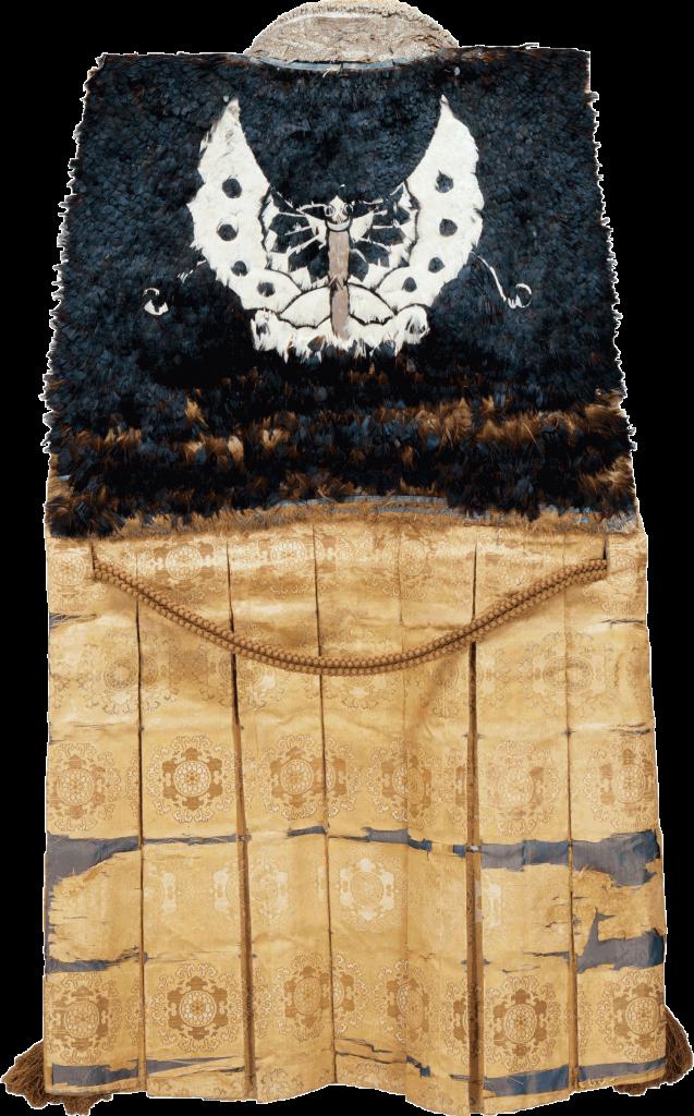 陣羽織じんばおり 黒鳥毛揚羽蝶模様くろとりげあげはちょうもよう  織田信長おだのぶなが所用 安土桃山時代・16世紀