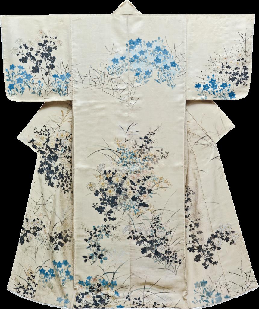 重要文化財 『小袖こそで 白綾地秋草模様 尾形光琳筆』 江戸時代・18世紀