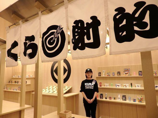 「くら寿司 浅草ROX店」の「縁日スペース」