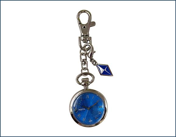 イベント記念 キーチェーンウォッチ (ブルーウォーター) ¥3,850(税込) 時計部分:直径約3.4cm 金具素材:合金、ステンレススチール ムーブメント:日本製